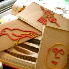 Rubber band printmaking