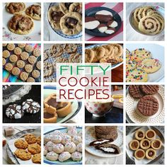These cookie recipes include holiday cookies, chocolate chip cookie recipes, peanut butter cookies, chocolate and more. 50 delicious recipes to choose from!   Amanda's Cookin'
