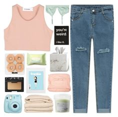 """summer brights"" by briannamariecardenas ❤ liked on Polyvore featuring Monki, Davines, Brahms Mount, Front Row Shop, Forever 21, Waterworks and NARS Cosmetics"