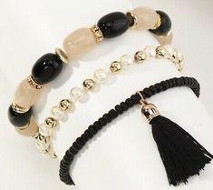Tassel Bracelet, Beaded Bracelets, Fashion Beads, Tassels, Layers, Handmade Items, Pearls, Stone, Metal
