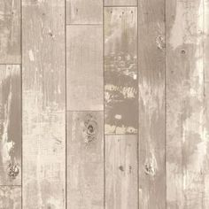 Brewster Heim Taupe Distressed Wood Panel Wallpaper-2718-20132 - The Home Depot