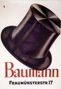 Baumberger, Otto Baumann - Fraumunsterstr. 17, 1928 | Shop original vintage Swiss #posters online: www.internationalposter.com
