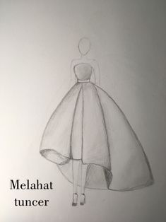 Dress Drawing Easy, Dress Design Drawing, Dress Design Sketches, Fashion Design Sketchbook, Girl Drawing Sketches, Girly Drawings, Art Drawings Sketches Simple, Fashion Design Drawings, Fashion Sketches