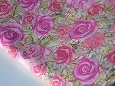 Floral cotton fabric Fat Quarter Liberty Fabric Tana Lawn Tissu Liberty Kilburn Rose by FitaDeVies