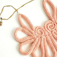 Crochet i cord necklace.