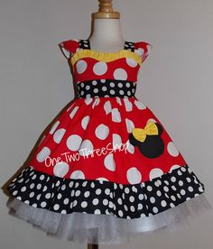 Minnie Mouse Dress sweetheart Birthday Custom Boutique by amacim, $39.99
