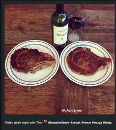 """""""Friday steak night with Tim"""" @chaytime #mugaexperience"""