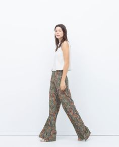 ZARA - COLLECTION AW15 - WIDE PRINTED TROUSERS
