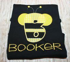Bee Oneise Bee Shirt Monogram Bee shirt by AddiesThings on Etsy