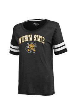 Wichita State Shockers Womens Champion T-Shirt - Shockers Black Eco Degree Short Sleeve Tee http://www.rallyhouse.com/shop/wichita-state-shockers-champion-14756504?utm_source=pinterest&utm_medium=social&utm_campaign=Pinterest-WSUShockers $29.99