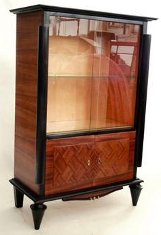 Image detail for -French Art Deco Bar Display Cabinet Leleu | eBay