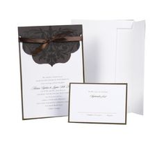 Hortense B. Hewitt Wedding Accessories Print Yourself Invitation Kit, Brown With Scalloped Top Wrap, Pack of 25 by Hortense B. Hewitt, http://www.amazon.com/dp/B004CG79WK/ref=cm_sw_r_pi_dp_uUW6qb0P4RNXC