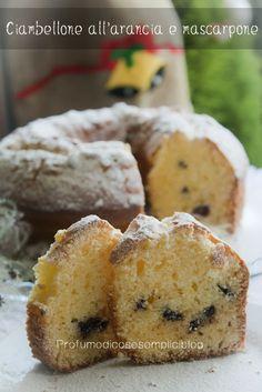 Ciambellone all'arancia e mascarpone, in pentola fornetto English Food, Biscotti, Cake Recipes, Muffins, Baking, Breakfast, Desserts, Chiffon, Cupcakes