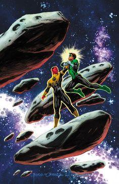Sinestro vs Hal Jordan by Rags Morales