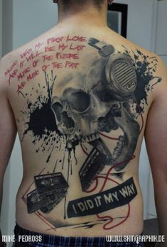 Big music tattoo!
