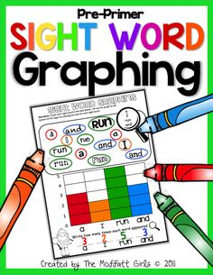 Sight Word Graphing! Combines sight words AND math! Such a great way to learn all those tricky sight words!