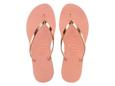 79da05bd6 Sandálias Havaianas You Metallic Rosa - havaianas Small Heel Shoes