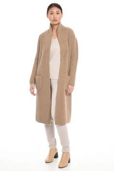Capospalla in maglia, cammello - Diffusione Tessile