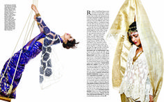 Southern siren Shruti Haasan in an exclusive collaboration of Art & Fashion with Rahul Mishra for Harper's Bazaar Bride, May '14.