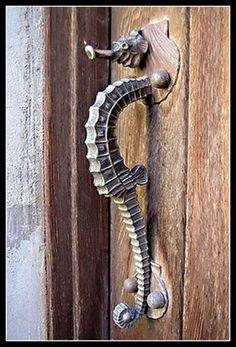 Fabulous Seahorse Door Handle | Content in a Cottage contentinacottage.blogspot.com