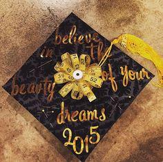 Graduation cap! Fashion design major!
