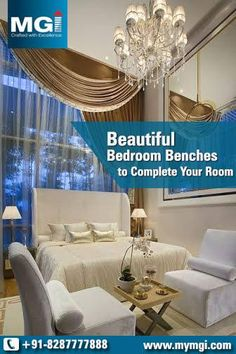 #Beautiful_Bedroom Benches to Complete Your #Room!!! www.mymgi.com