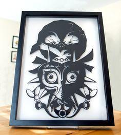 Legend of Zelda Majoras Mask // shadow cut hand cut by willpigg