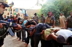 Islamic State Militants Publicly Execute Six Iraqi Soldiers, Continue Advance Amid U.S.-Led Airstrikes