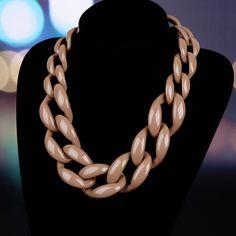 Mode Bijoux choker collier en plastique chaîne lien collier femmes maxi collier d'hiver couleur