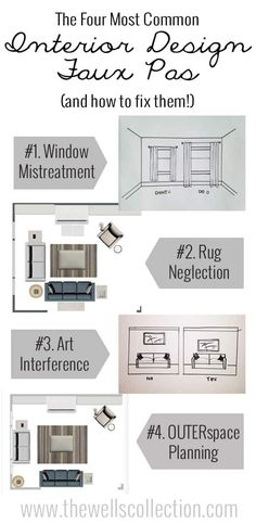 These interior design faux pas are so common, yet so easy to fix! DON'T make these mistakes, you can make your house look brighter and more modern just by correcting a few misconceptions!