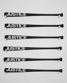 """lafilleblanc: """" Sebastian Errazuriz Justice, 2013 Acrylic and oil paint over wooden baseball bats. Justice Department, of women polled admitted having experienced domestic violence. There are approximately 1 million. Senior Photography, Anders Dragon Age, Fallout, Sayaka Miki, L Lawliet, Jane The Virgin, Ex Machina, Jason Todd, Jason Grace"""