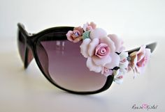 DIY: Flower Sunglasses | Reese Kistel.... Love this girls site!! This is what I want my site to look like!