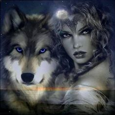 44 new Ideas tattoo wolf girl wolves beautiful Wolf Images, Wolf Pictures, Beautiful Wolves, Animals Beautiful, Fantasy Wolf, Fantasy Art, Illustration Fantasy, Wolf Hybrid, Native American Wolf