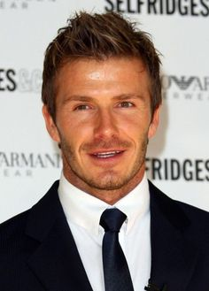 David Beckham Short Hairstyles 2015 #top celebrity of all time #handsome mens with thin mustache #spiky hairstyles 2015