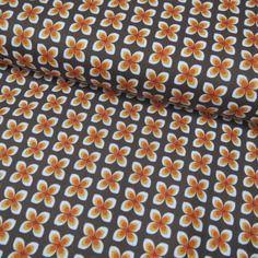 Tissu soft cactus, labellisé oeko-tex little daisy brun