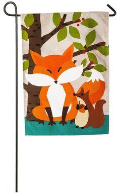 Amazon.com : Evergreen Woodland Friends Burlap Garden Flag, 12.5 x 18 inches : Patio, Lawn & Garden