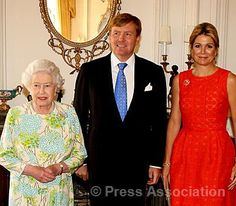The Queen with The King and Queen of the Netherlands at Windsor Castle, 10 July 2013.