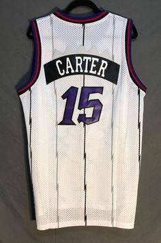 465bc95e5c18 Men  15 Vince Carter Jersey White Toronto Raptors Jersey Throwback Swingman Throwback  Nba Jerseys