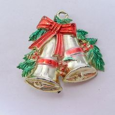 antique vintage 1940's acrylic plastic Christmas by jewelry715, $4.00