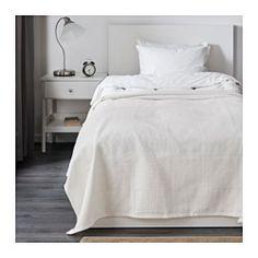IKEA - INDIRA, Posteľná prikrývka, 150x250 cm, , Táto postelná prikrývka utkaná z bavlny dáva vašej posteli žiarivý, dekoratívny vzhľad a navyše hrejivé pohodlie.