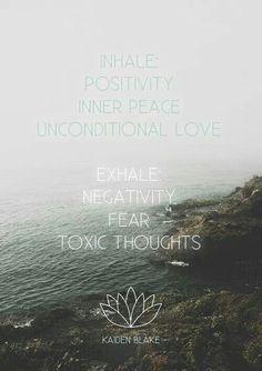 Inhale....exhale. Let it go.