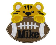 Tiger Football Boy Personalized Patch Name Patches, Sew On Patches, Iron On Patches, Football Boys, Christmas Ornaments, Holiday Decor, Projects, Bags, Xmas Ornaments