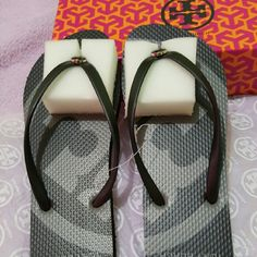 Tory Burch Flip flops NWT Flip flops from Tory Burch! Size 8 Authentic! Tory Burch Shoes Slippers