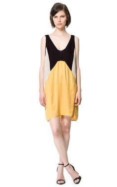 Image 1 of TRICOLOR STUDIO DRESS from Zara