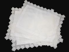 Morning Tea tray cloths or small table cloths for hire