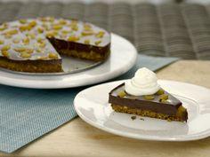 Chocolate-Pistachio Fudge Tart - recipe by Giada