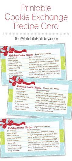 cookie+exchange.jpg] | Printables | Pinterest | Cookie swap and Food