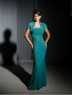 Matte Jersey Strapless Asymmetrically Ruched Empire Bodice Mermaid Mother Bride Dress