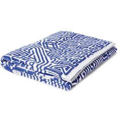 John Elliott - Moroccan Patterned Cotton-Terry Beach Towel