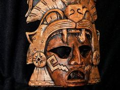 Aztec Warrior pottery Mask